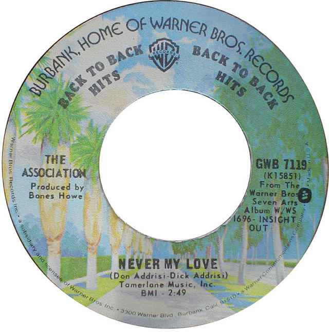 "Going for Gold: The Association's ""Never My Love"" Goes Gold"