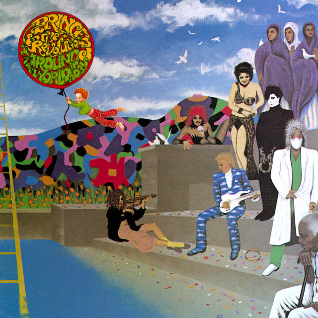 Prince AROUND THE WORLD IN A DAY Album Cover
