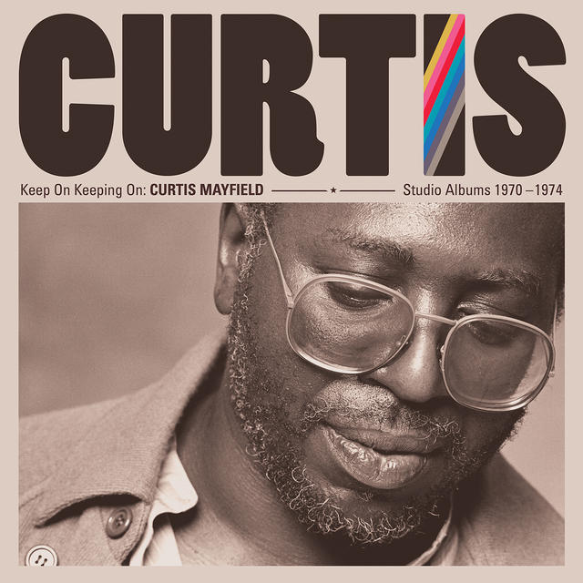 Curtis Mayfield KEEP ON KEEPING ON Album Cover