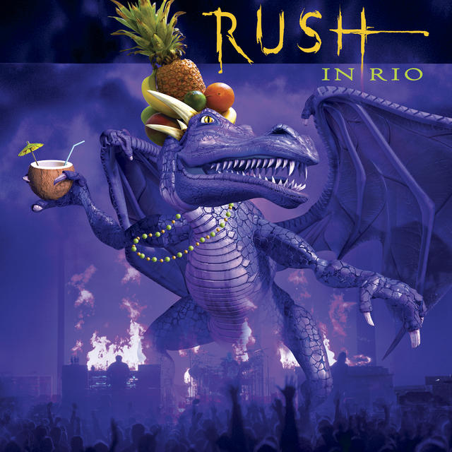 Rush LIVE IN RIO Album Cover