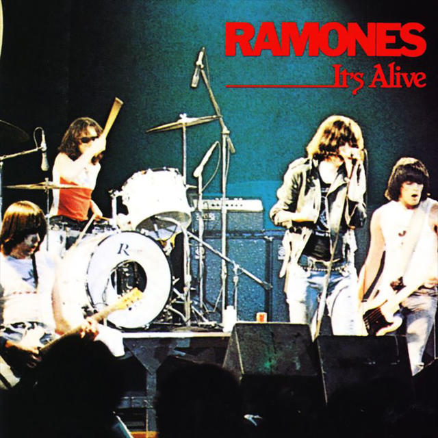Ramones ITS ALIVE 2019 REMASTER LP Cover