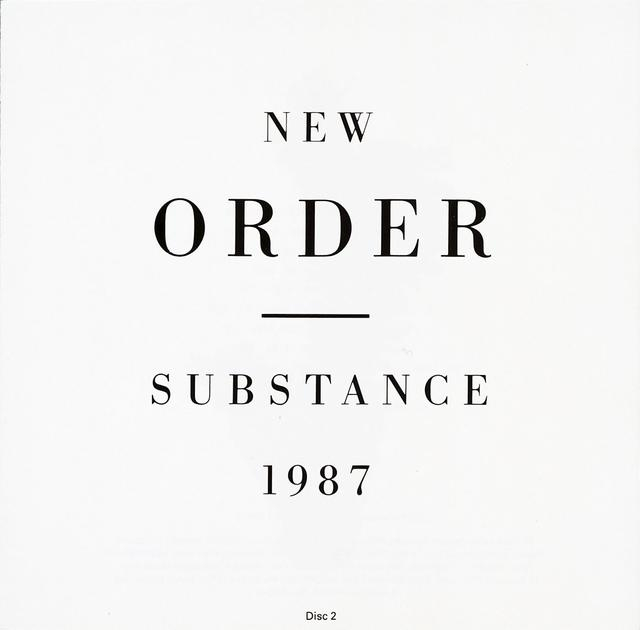 New Order SUBSTANCE Coveer