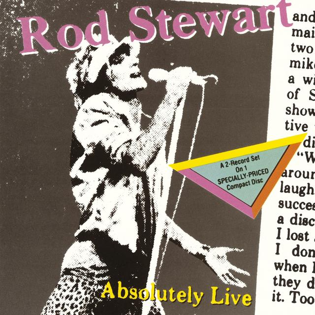 Rod Stewart ABSOLULTELY LIVE Cover