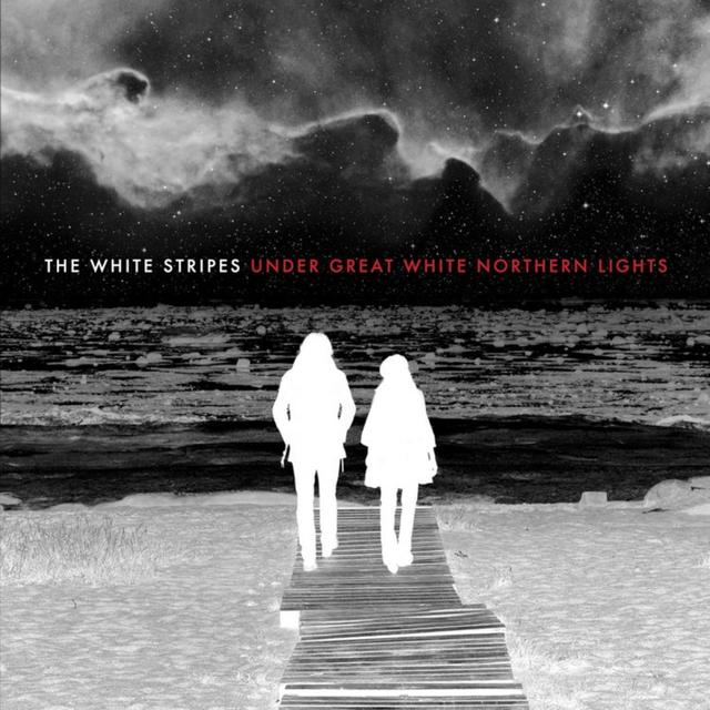 The White Stripes UNDER GREAT WHITE NORTHERN LIGHTS Album Cover