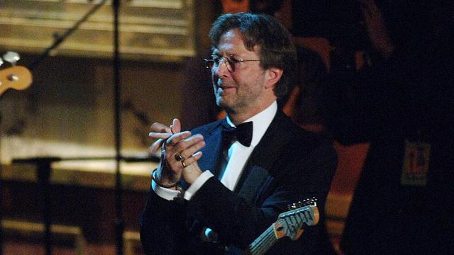 Eric Clapton, presenter during 20th Annual Rock and Roll Hall of Fame Induction Ceremony - Show at Waldorf Astoria Hotel in New York City, New York, United States. (Photo by Jeff Kravitz/FilmMagic)