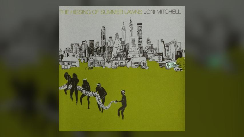 Joni Mitchell THE HISSING OF SUMMER LAWNS Album Cover
