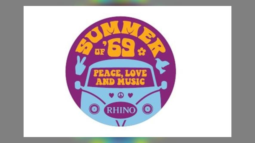 Rhino SUMMER OF 69: PEACE LOVE AND MUSIC logo
