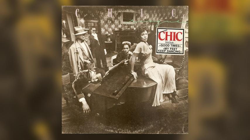 The vinyl album cover for CHIC, Risqué